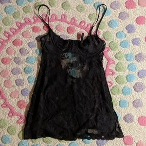 Victoria's Secret Black Lace Babydoll 34B